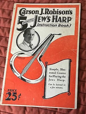 1929 Carson J. Robinson Jew's Harp instruction book