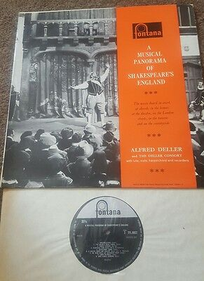 TFL 6022 A Musical Panorama Of Shakespeare's England Alfred Deller 1960  q6