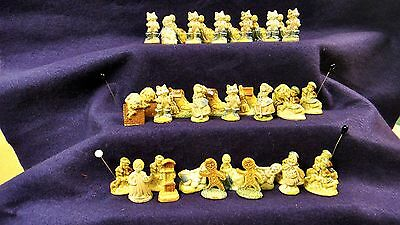 37 Red Rose Tea Nursery Rhyme Figurines / Mint From The Mold Condition