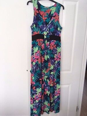 TU Floral Summer Maxi Maternity Dress Size 14 Pregnancy or Casual Wear, V neck