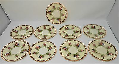 "Vintage Alfred Meakin England Hollyhock China Lot of 9 Dessert Plates - 6"" *2"