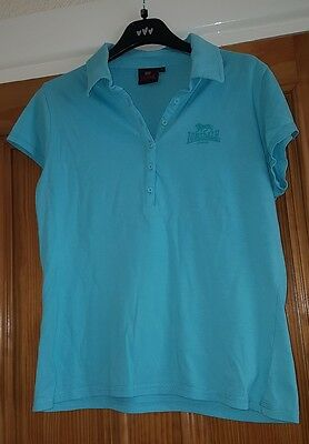 Ladies Lonsdale Turquoise Golf Polo T Shirt - Size Large