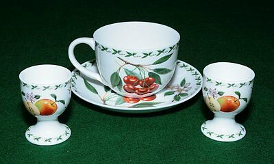 Maxwell Williams Orchard Fruits CUPS/SAUCER and 2 EGG CUPS  fine bone china