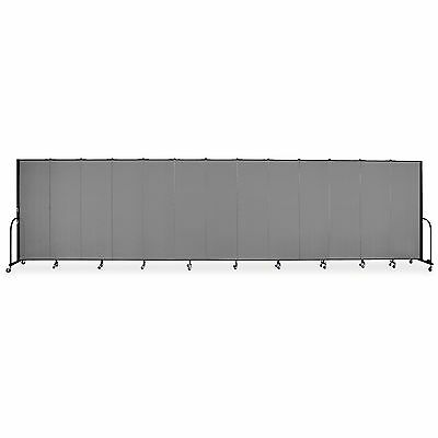 "Screenflex Interlocking Mobile Partitions, 13 Panels, 24'1""x6' CFSL6013DG"