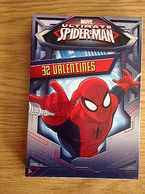 Marvel Ultimate Spider-Man Valentines 32 Cards New Authentic
