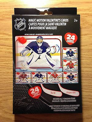 Nhl Hockey Magic Motion Valentines 24 Cards 24 Stickers New Authentic E5