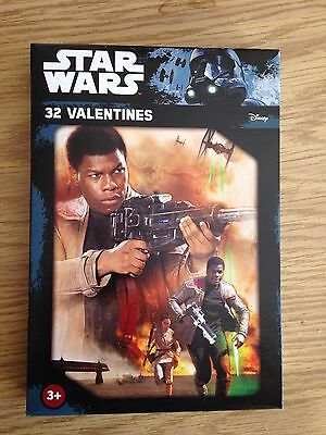 Star Wars Valentines 32 Cards New Authentic