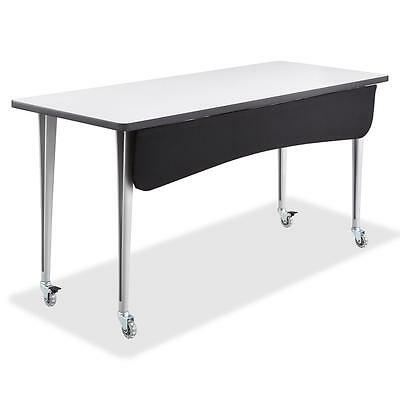 """Safco Modesty Panel f/Rumba Table 48""""x1-1/2""""x9-1/2"""" Black 2084BL"""