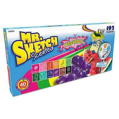 Mr. Sketch Washable Markers Chisel Assorted Colors 192/Set 1924063
