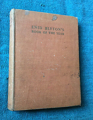 Enid Blyton's Book of the Year 1st Edition 1940s Illustrated by Harry Rountree