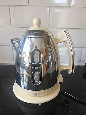 Dualit JKT33A Cordless Jug Kettle, 1.5 L - Stainless Steel with Cream Trim