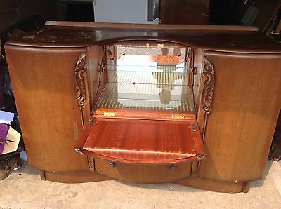 Vintage Antique Art Deco Beautitily Cocktail/liquor Cabinet - House Clearance