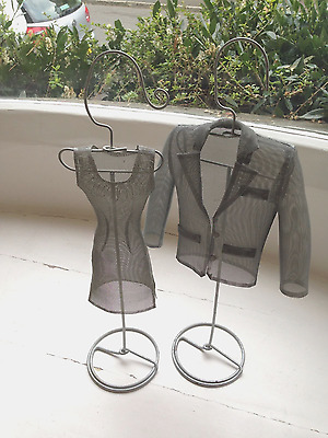 IKEA metal mesh dress and jacket mannequins