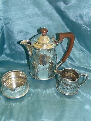 Stunning Atkin Brothers Hand Plemished Arts & Crafts Coffee Set Lovely Patina