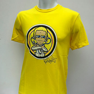 """Mens OFFICIAL Valentino Rossi Yellow 'The Doctor' T Shirt NEW Chest Size: S/36"""""""