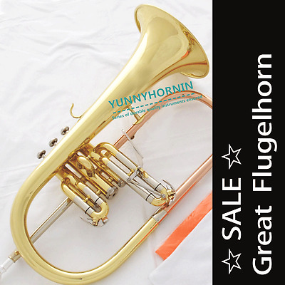☆ SALE ☆ Quality FLUGELHORN Bands Horn • Bb Flugel • Case & Mouthpiece NEW