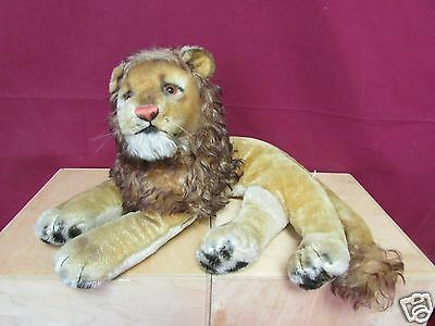 Steiff Leo The Lion No Tags Mohair Stuffed Animal Plush Made In Germany