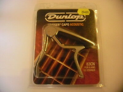 Silver Jim Dunlop Trigger Nickel Capo 6/12 String Acoustic Guitar 83Cn