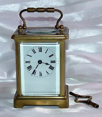 Nice vintage 1950's French Brass carriage clock - Fully working