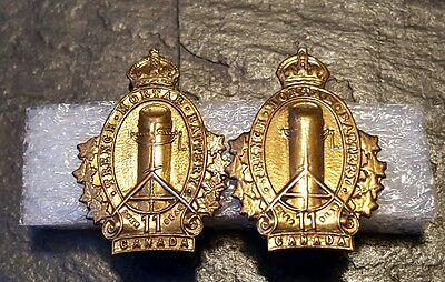 11th Overseas Trench Mortar Battery Canada Collar Badges