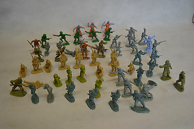 Collection Of 58 Vintage 1970s Plastic Toy Soldier Figures