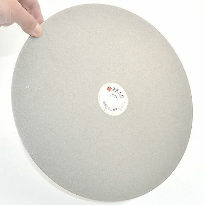 """12"""" inch Grit 240 Diamond Grinding Disc Wheel Coated Flat Lap Disk Lapidary Tool"""