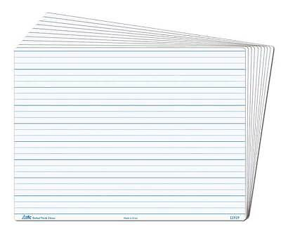 Whiteboard Dotted Thirds Write N Wipe Desk A4 (5 Piece) Writing Teacher Resource