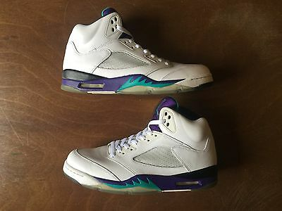 USED Air Jordan Retro V 5 Grape Size 10.5 US Mens 2013