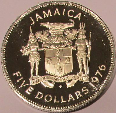 1976 Jamaica Proof Silver 5 Dollars - KM# 62a