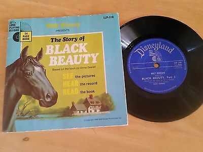 """Walt Disney Presents """"the Story Of Black Beauty """" 7"""" Single And 24 Page Book (19"""