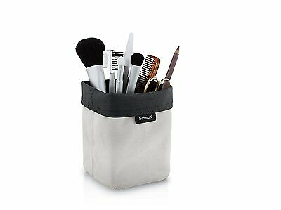 Blomus Reversible Storage Basket/Container, Washable Fabric, Sand/Anthracite