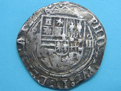 1556 - 1598 O Philip Ii 4 Real Cob Mexico Mint Spanish Spain