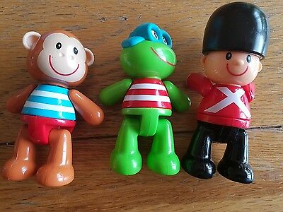 3 x Elc early learning centre twisting head arms legs toys
