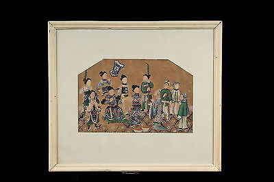 China 19. Jh. Malerei -A Chinese Colour & Wash On Paper Peinture Chinoise Cinese