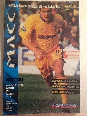 Macclesfield Town v Exeter City, 1999