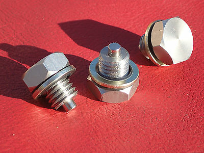 BSA C15 B40 B44 B25 Stainless magnetic gearbox plug and Dowty washer.