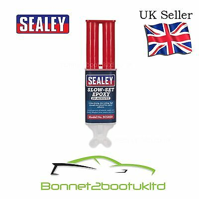 Sealey Slow Set Epoxy Adhesive Glue 20 min metal plastic fibreglass wood scs400