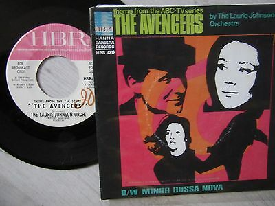 "45rpm   LAURIE JOHNSON  ""THE AVENGERS""  7"" AMERICAN DEMO!!"
