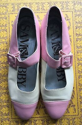 Vintage Sam & Libby Leather Shoes UK 4.5