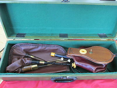 Northumbrian Small Pipes with 3 Drones and 2 Spare Chanters - Cased - Beautiful