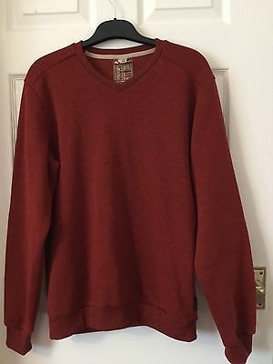 Mens Quechua Micro Fleece Jumper Size Large Mars Red Hiking Walking