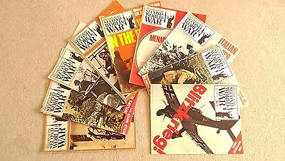 """9 Purnell's  """"History of the Second World War"""" Magazines"""