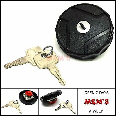Classic Mini - Rover Mni - Black Plastic Petrol Locking Cap With 2 Keys (New)