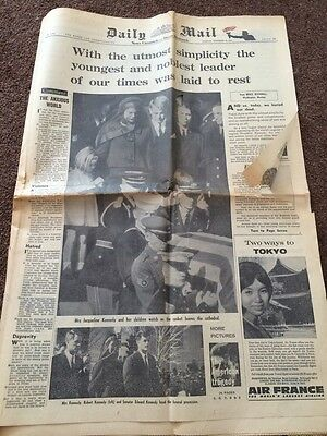 Daily Mail November 26th President Kennedy's Funeral - ORIGINAL VINTAGE
