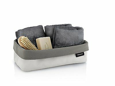 Blomus ARA Reversible Storage Basket/Container, Flat, Washable Fabric Sand/Taupe