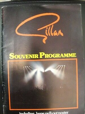 Gillan Magic UK TOUR PROGRAMME with Centre Pull Out Poster & newspaper article