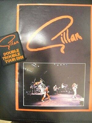 Gillan Double Trouble UK TOUR PROGRAMME 1981 with Unused Patch