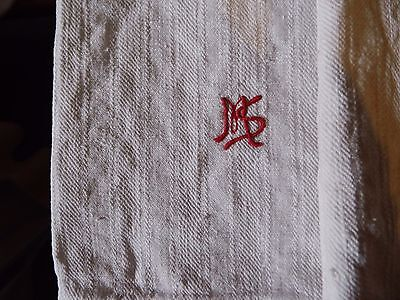 Alte Leinenhandtücher  Old linen towels  Monogram MS um 1900