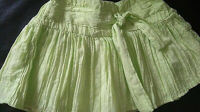 Next Pretty Baby Girls Lime Green  Skirt Age 6-9 Months Immaculate Worn Once