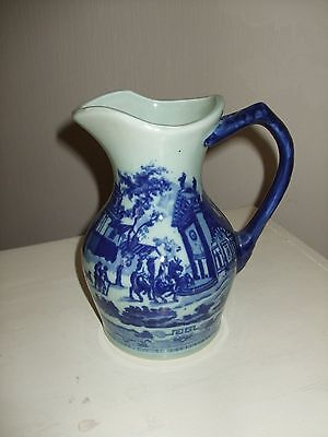 vintage victoria ware, blue and white ironstone jug
